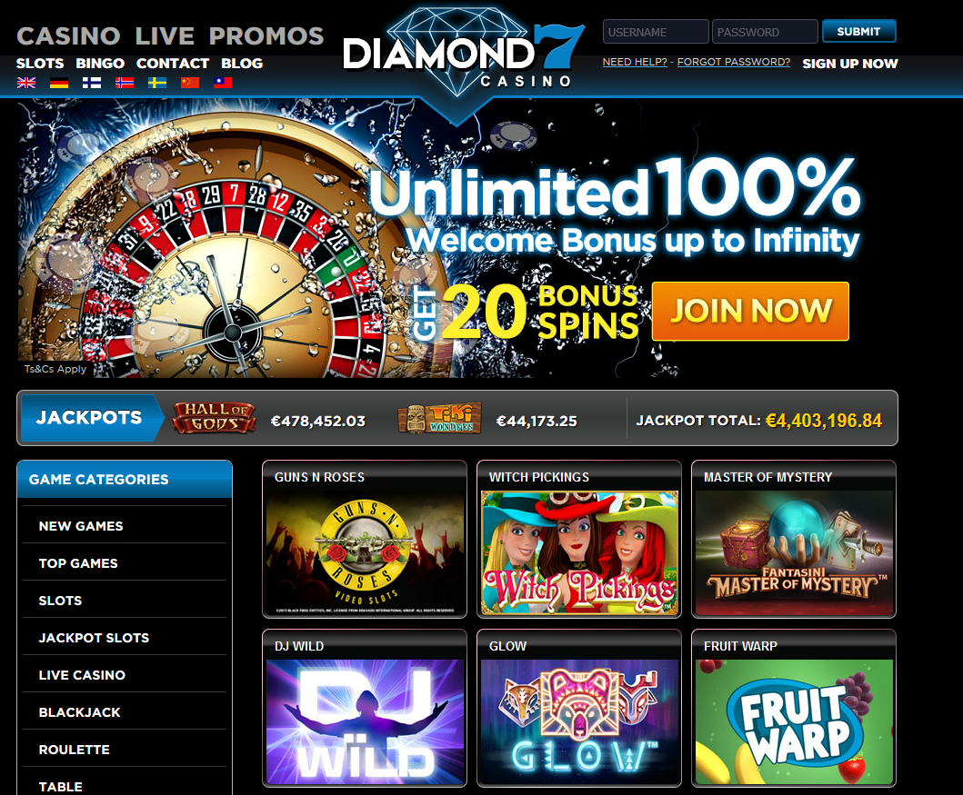 Diamond 7 Casino Screenshot